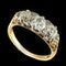 MM6360r Victorian gold carved half hoop three stone diamond ring 1880c - image 2