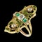 MM6442r Gold enamel emerald and rose diamond Art Nouveau ring 1900c - image 1