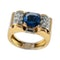 MM6453r Gold sapphire and diamond 1960c retro ring super wearable ring - image 1