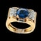 MM6453r Gold sapphire and diamond 1960c retro ring super wearable ring - image 2
