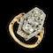 MM6471r French Marquise rose diamond gold platinum ring 1900c - image 1