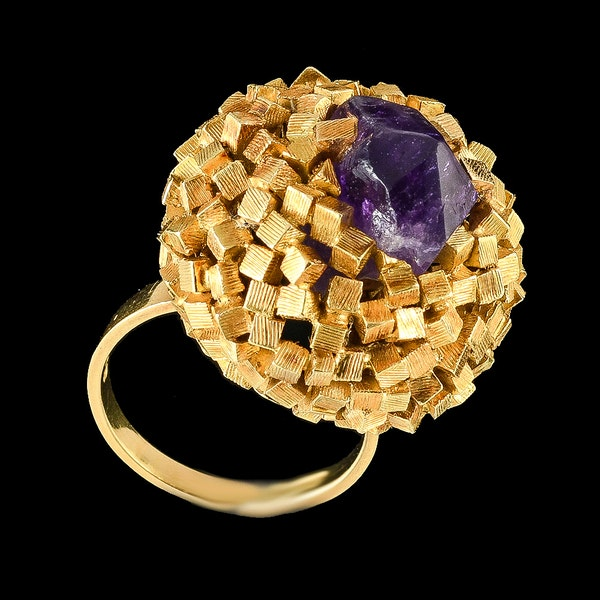 MM6421r John Donald gold amethyst 1960c ring very collectible - image 2