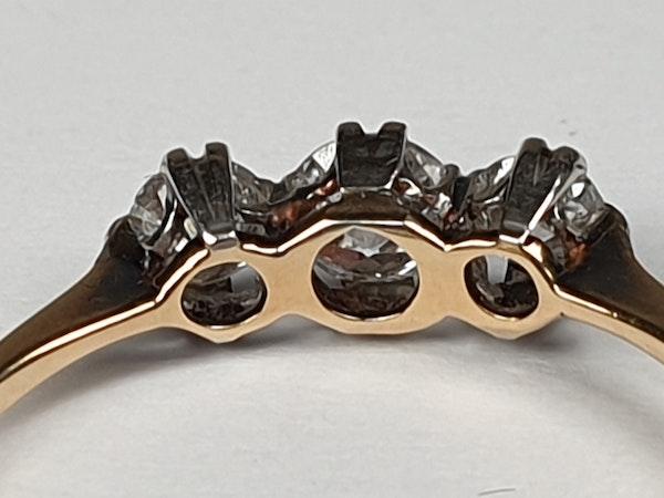 Edwardian Three Stone Diamond Engagement Ring  DBGEMS - image 3