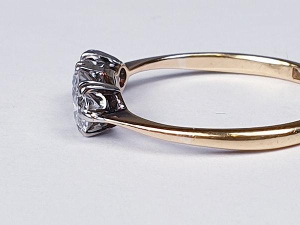 Edwardian Three Stone Diamond Engagement Ring  DBGEMS - image 4
