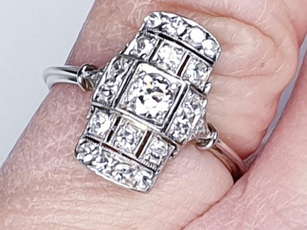 Art deco diamond engagement ring  DBGEMS - image 6