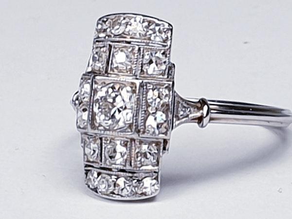 Art deco diamond engagement ring  DBGEMS - image 2