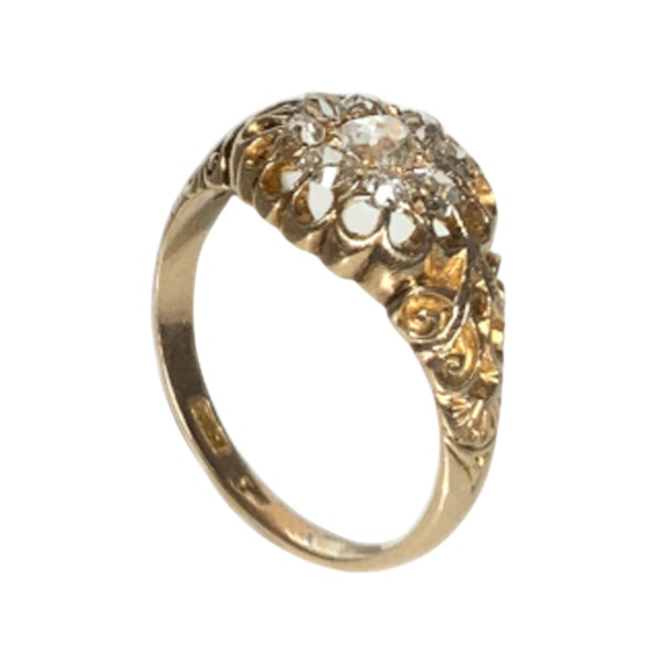 An Openwork top Diamond Cluster Ring - image 3