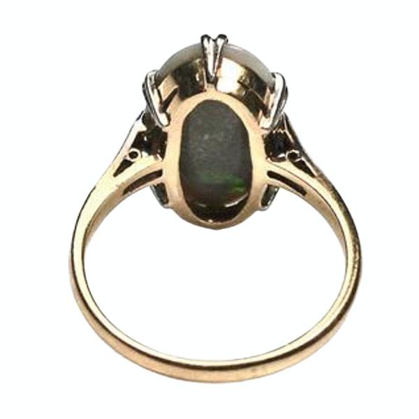 An Art Deco Harlequin Opal Ring - image 1