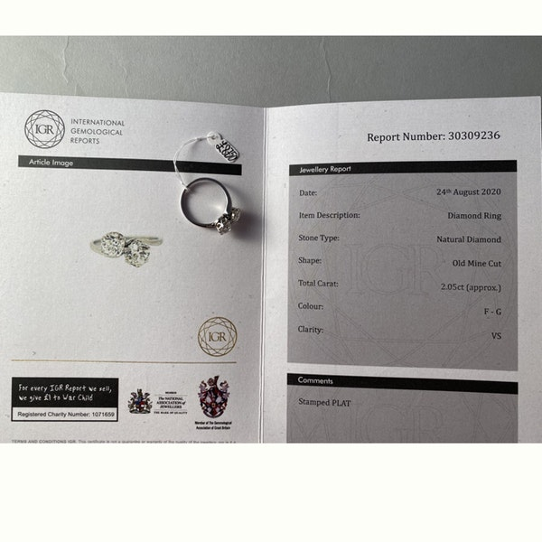 Date: circa 1905, Platinum and Old Mine Cut Diamond Cross Over stone set Ring,,,,,,, SHAPIRO & Co since1979 - image 5
