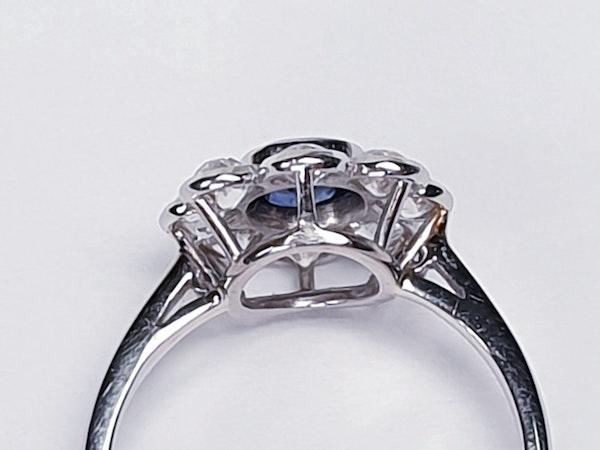 Old Cut Sapphire & Diamond Cluster Ring  DBGEMS - image 2