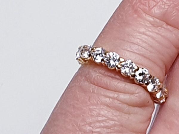 French Full Hoop Diamond Eternity Ring  DBGEMS - image 4