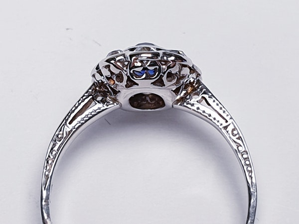 Sapphire and Diamond Cluster Engagement Ring  DBGEMS - image 6