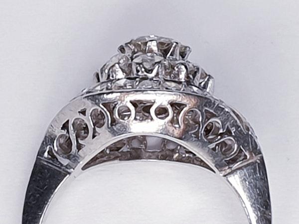Cool 1930's Diamond Engagement Ring  DBGEMS - image 3