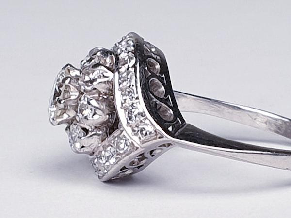 Cool 1930's Diamond Engagement Ring  DBGEMS - image 5