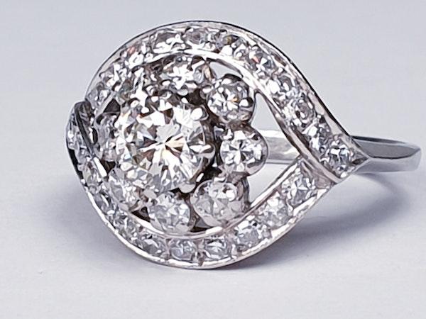 Cool 1930's Diamond Engagement Ring  DBGEMS - image 6