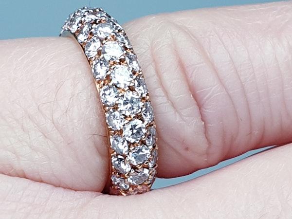 French Bombe Diamond Eternity Ring  DBGEMS - image 4