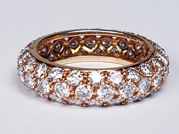 French Bombe Diamond Eternity Ring  DBGEMS - image 3