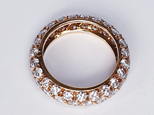 French Bombe Diamond Eternity Ring  DBGEMS - image 2