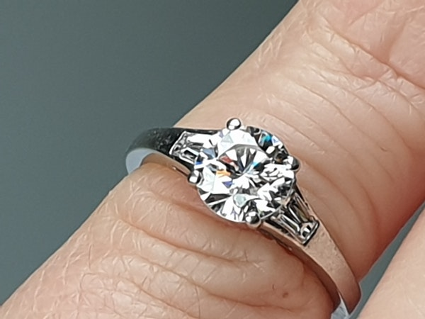 Super diamond engagement ring  DBGEMS - image 2