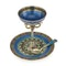 Russian Silver Gilt and Enamel Sherbet Cup, Underplate & Spoon, Khlebnikov, Moscow c.1900 - image 2
