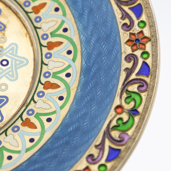 Russian Silver Gilt and Enamel Sherbet Cup, Underplate & Spoon, Khlebnikov, Moscow c.1900 - image 17