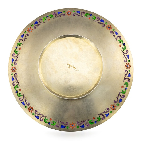 Russian Silver Gilt and Enamel Sherbet Cup, Underplate & Spoon, Khlebnikov, Moscow c.1900 - image 5