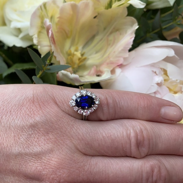 1960's, Sapphire and Diamond stone set Ring, SHAPIRO & Co since1979 - image 2
