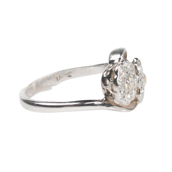 An antique double Daisy Diamond Ring - image 2