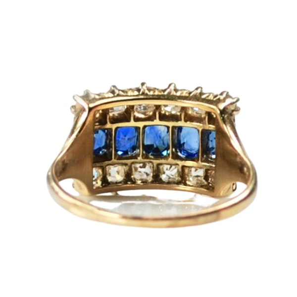 An antique Sapphire and Diamond Ring - image 1