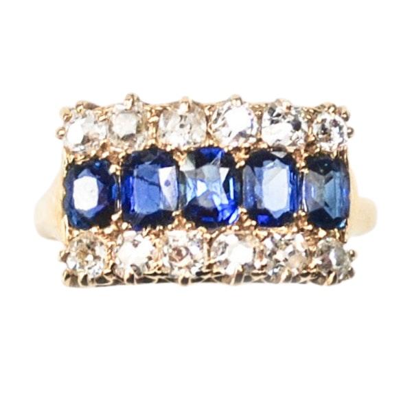 An Burma Sapphire & Diamond Ring - image 2