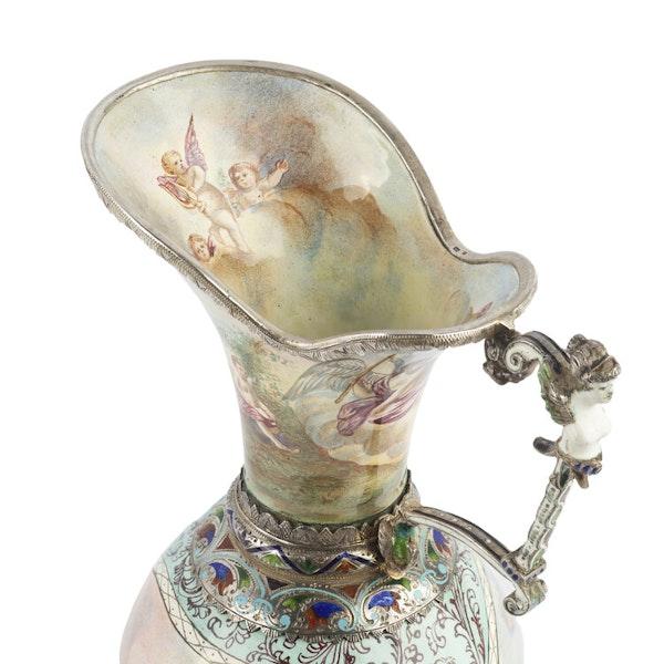 Austrian Silver and Enamel Jug, Vienna 1866 - image 2