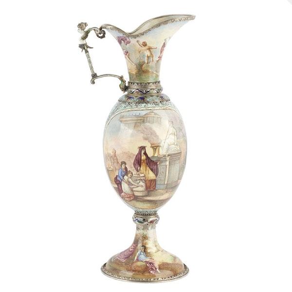 Austrian Silver and Enamel Jug, Vienna 1866 - image 5