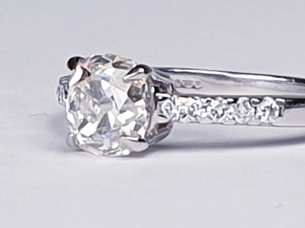 Cushion Cut Diamond Engagement Ring  DBGEMS - image 6