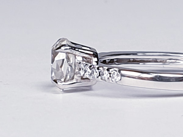 Cushion Cut Diamond Engagement Ring  DBGEMS - image 4