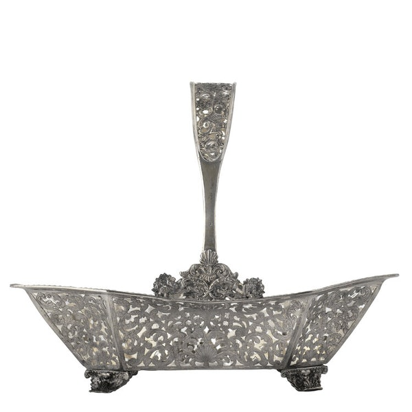 Russian Silver Gilt Fruit Basket, Moscow 1838 - image 2