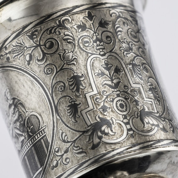 Russian Silver Gilt Niello Cup with Moscow Scenes, Moscow 1838 - image 4