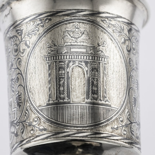 Russian Silver Gilt Niello Cup with Moscow Scenes, Moscow 1838 - image 6