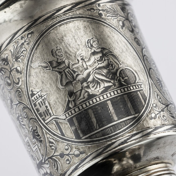 Russian Silver Gilt Niello Cup with Moscow Scenes, Moscow 1838 - image 3