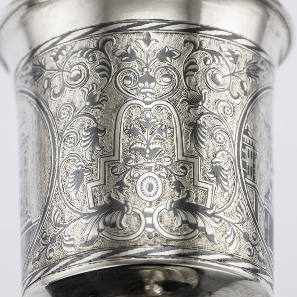 Russian Silver Gilt Niello Cup with Moscow Scenes, Moscow 1838 - image 7