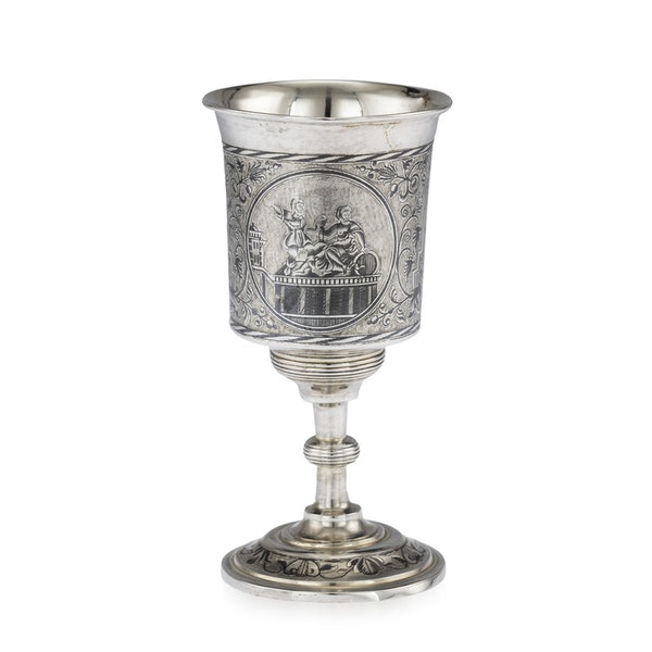 Russian Silver Gilt Niello Cup with Moscow Scenes, Moscow 1838 - image 2