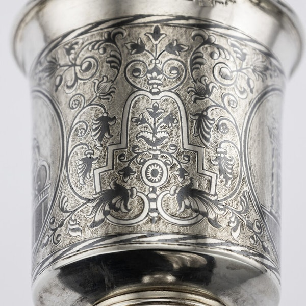 Russian Silver Gilt Niello Cup with Moscow Scenes, Moscow 1838 - image 5