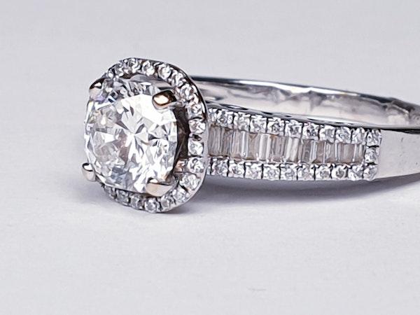 1.02ct D Colour Vs2 Diamond Ring  DBGEMS - image 6