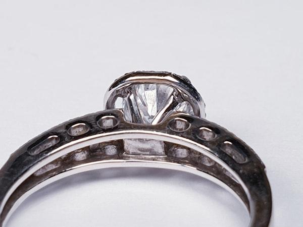 1.02ct D Colour Vs2 Diamond Ring  DBGEMS - image 3