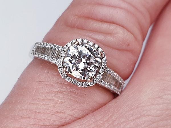 1.02ct D Colour Vs2 Diamond Ring  DBGEMS - image 5