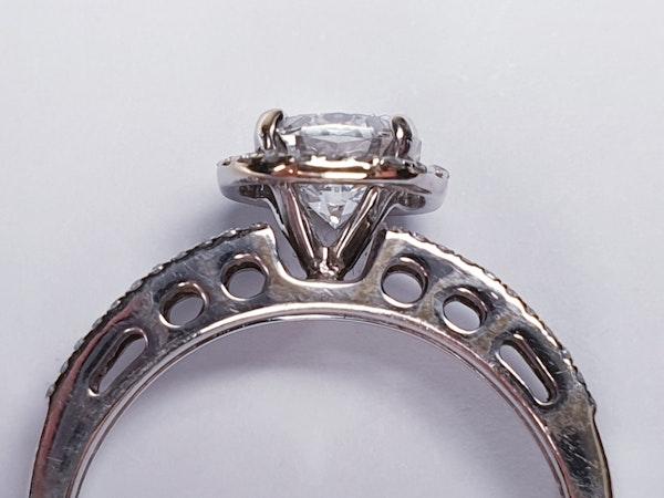 1.02ct D Colour Vs2 Diamond Ring  DBGEMS - image 2