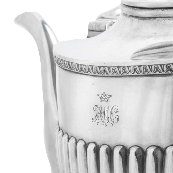 19th Century Russian Silver Kettle, Moscow c.1880, by Morozov - image 2