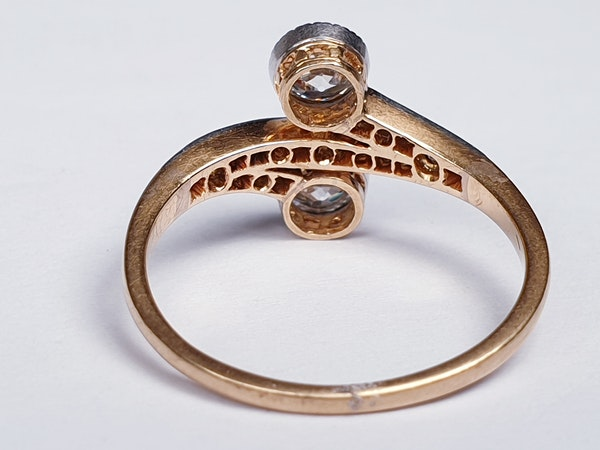 Edwardian Two Stone Moi et Toi Ring  DBGEMS - image 3