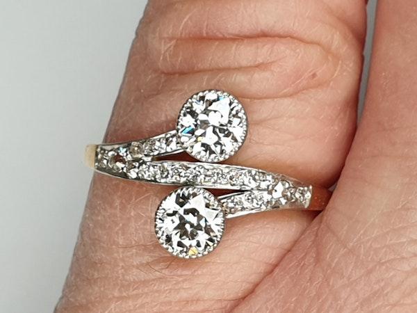 Edwardian Two Stone Moi et Toi Ring  DBGEMS - image 6