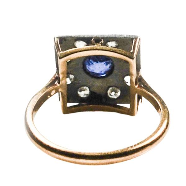 An Art Deco Sapphire and Diamond Ring - image 5