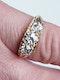 Three Stone Diamond Carved Half Hoop Ring  DBGEMS - image 4